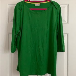 Green top.